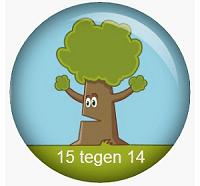 logo 15 tegen 14 crowdfundingsactie